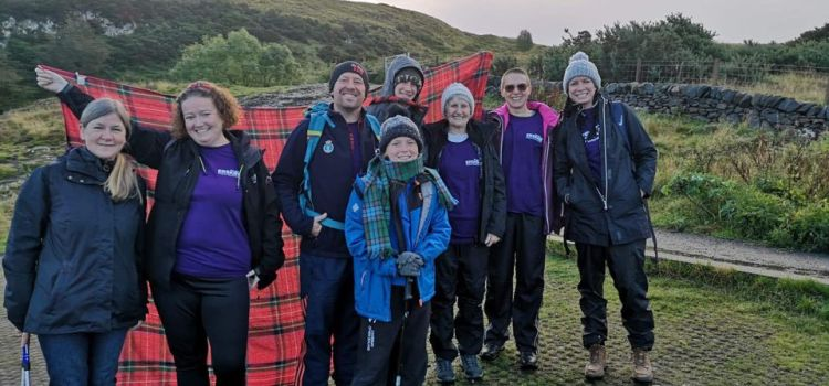 Family complete Kiltwalk in memory of father who died in WW2