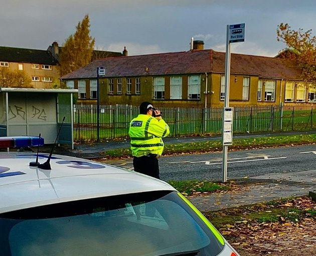 Police carry out speed checks in Paisley