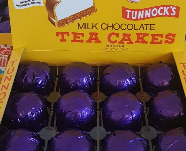 Limited Edition Purple Tunnock's Tea Cakes are auctioned for Pancreatic Cancer Awareness Month
