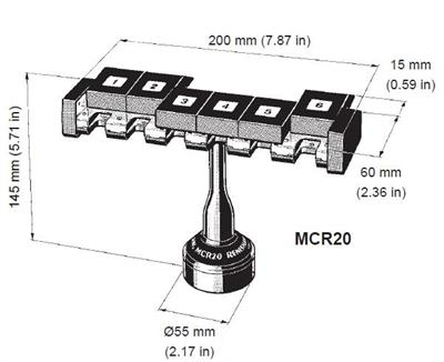 MCR20 module changing rack