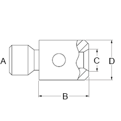 Product A-5004-7592, M3 to M2 stainless steel adaptor, L 5 mm