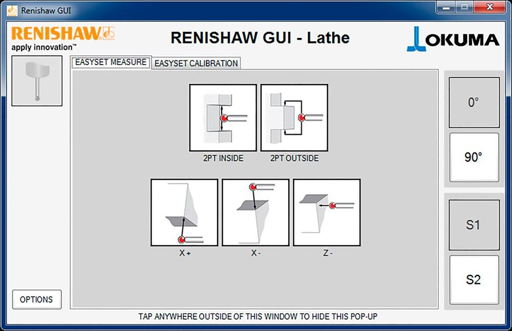 medium resolution of easyset feature measurement 0 probe orientation okuma lathe gui