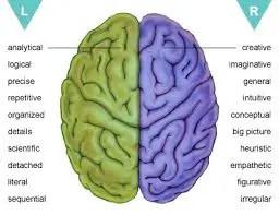 Linker hersenhelft en hardlopen