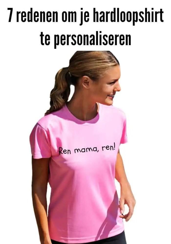 dames hardloopshirt paars T-shirts.nl