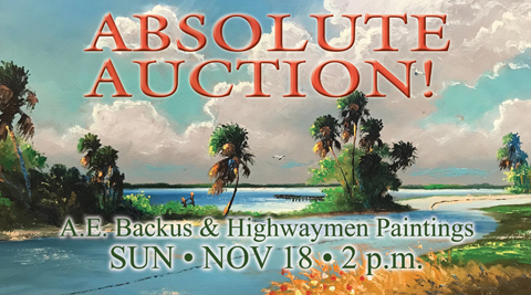 A.E. Backus & Highwaymen Painting Auction