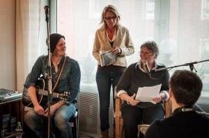 Edy Edwards, Britt Glaser, Brigitte Vollenberg, Wohnzimmerlesung