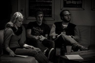 Die Finalisten: Elina Raddy, Felix Krull und Jan Coenen, 11.10.2