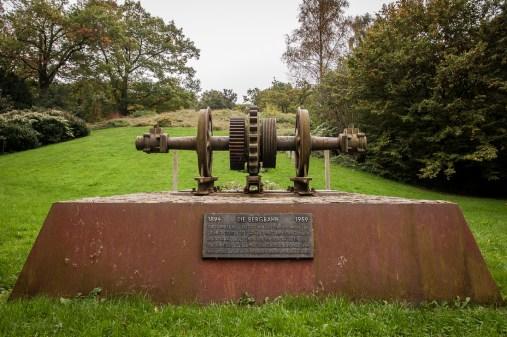 Bergbahn-Denkmal in den Barmer Anlagen