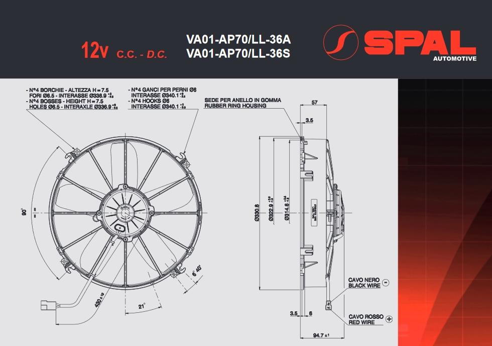 Spal Kühlerventilator 2780m³ saugend