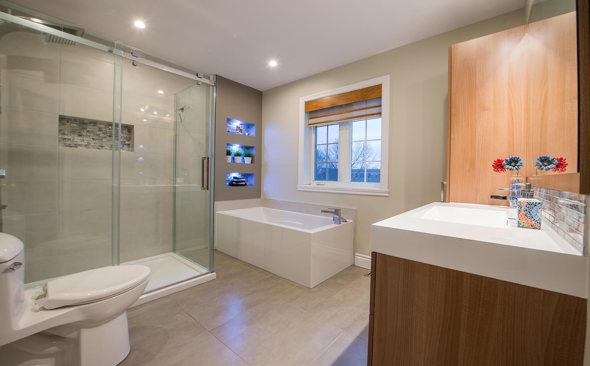 Histoire de rnovation Une salle de bain zen