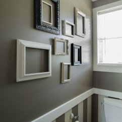 Picture Frame Moulding Below Chair Rail Outdoor Wicker Rocking Uk Molding Ideas For The Bathroom Renocompare Hint Of Stripes