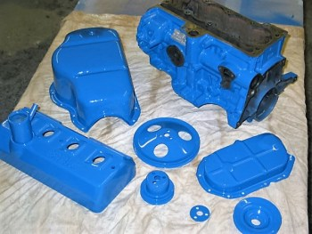 French racing blue for the engine.