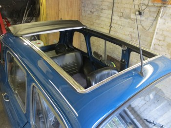 Fitting of Webasto sunroof