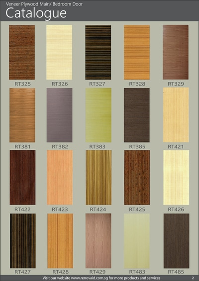 Veneer Plywood Bedroom Door Promotion for HDB BTO and Re