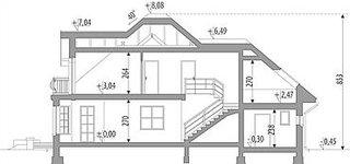 Proiect de casa cu etaj mansardat si balcoane