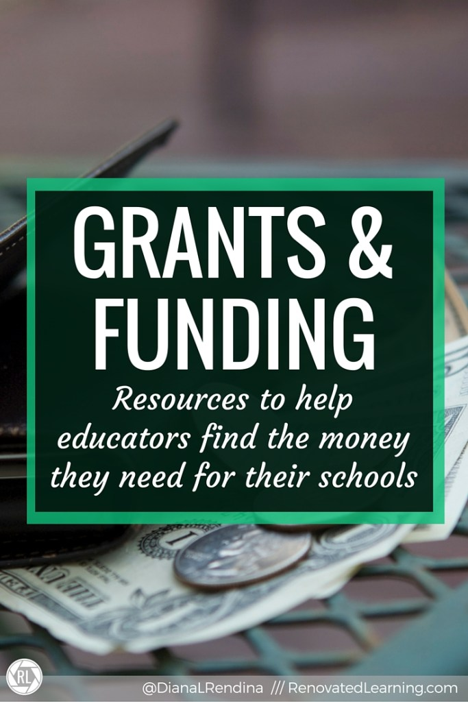 Grants & Funding: Resources to help educators find the money they need for their schools | With budgets getting tighter and tighter each year, it can often be hard to find the money we need to complete the projects we envision in our schools. These resources are gathered here to help you find grants and other funding sources to support the projects you've dreamed up for your school.