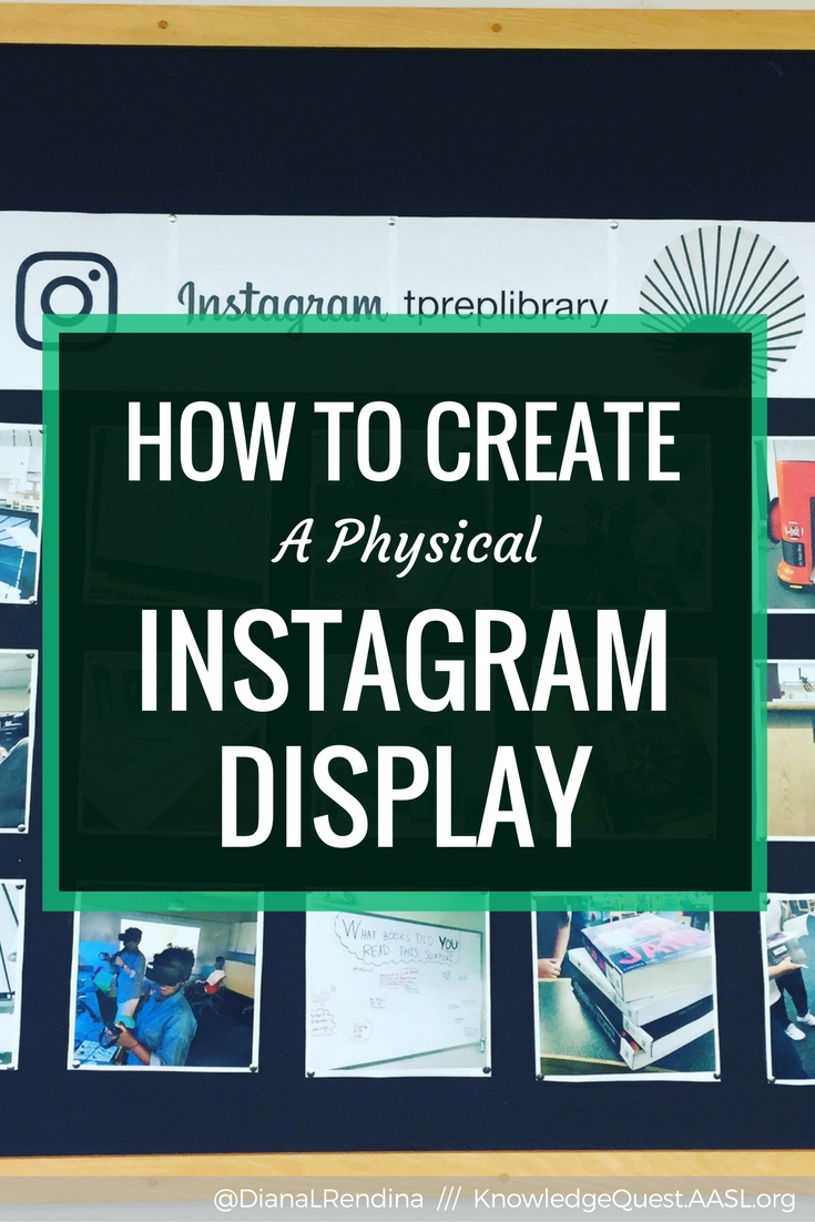 How to Create an Instagram Display in the Physical World   Instagram is a great way to share and promote your program, but it doesn't have to just stay in the cloud. Create a physical Instagram display to promote both your social media account and your library programs.