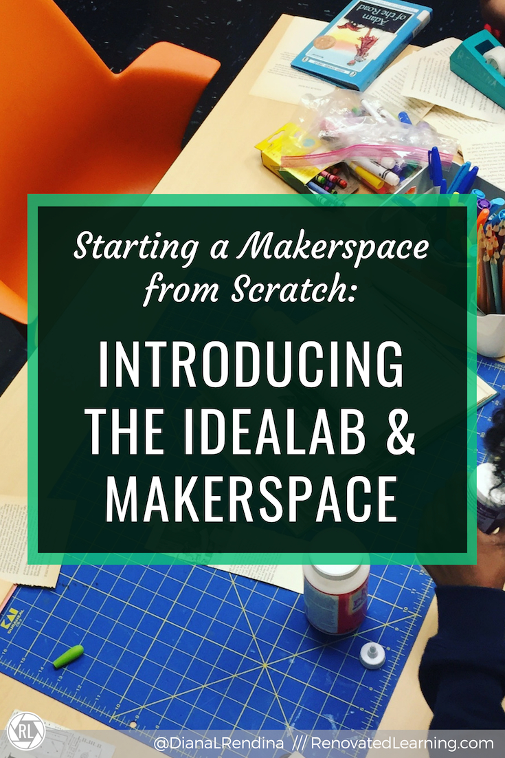 Starting a makerspace from scratch // The IDEAlab and makerspace is the space for creative exploration at my school. But not too long ago, the space was an office/storage room. Here's how it transformed.