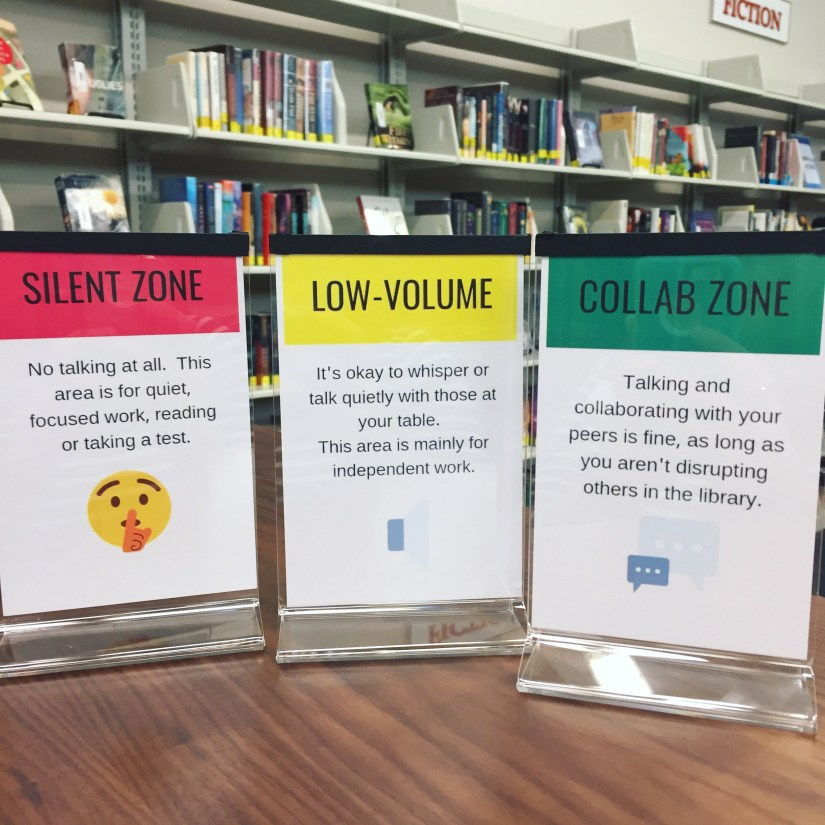 conversation zone signs