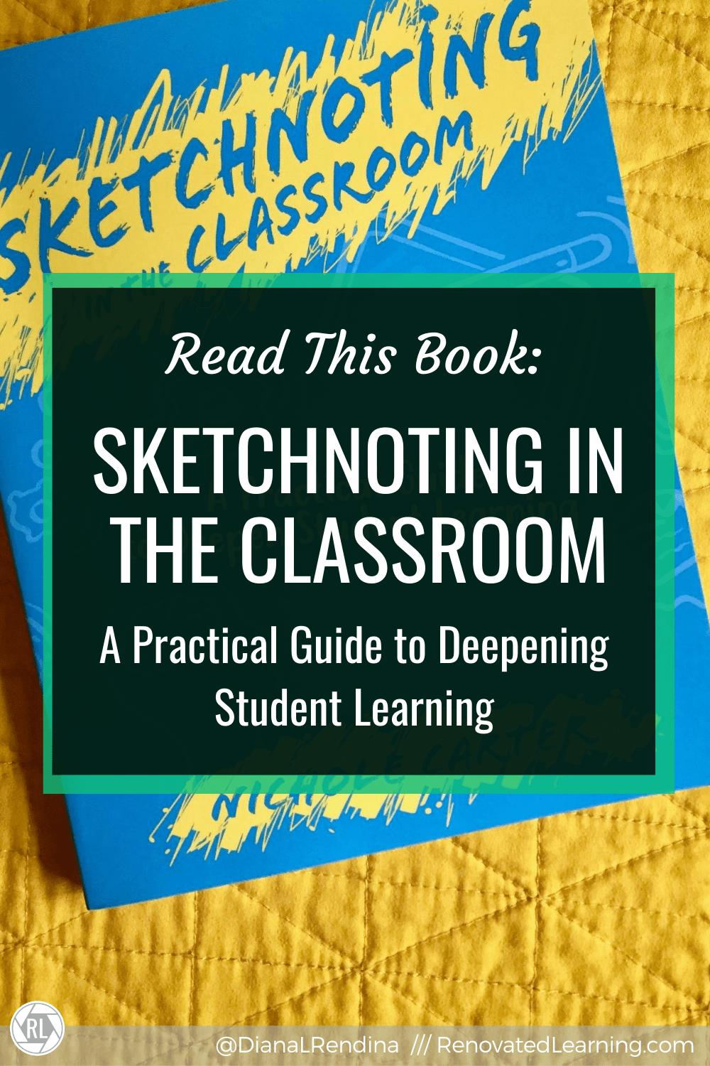Read this Book: Sketchnoting in the Classroom // Nichole Carter's book is an excellent resource for educators looking to find ways to bring sketchnoting into their classrooms. She provides excellent ideas and examples to get your students started sketching. If you're looking for more of a basic how-to sketchnote, start with Mike Rhode's The Sketchnote Handbook.