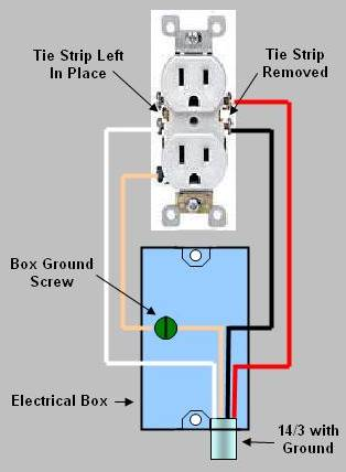 installing  replacing an electrical receptacle  part 2