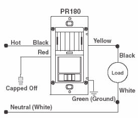 motion sensor light switch wiring diagram for a tekonsha trailer brake controller turn lights on off automatically pr150 pr180 single pole replacement