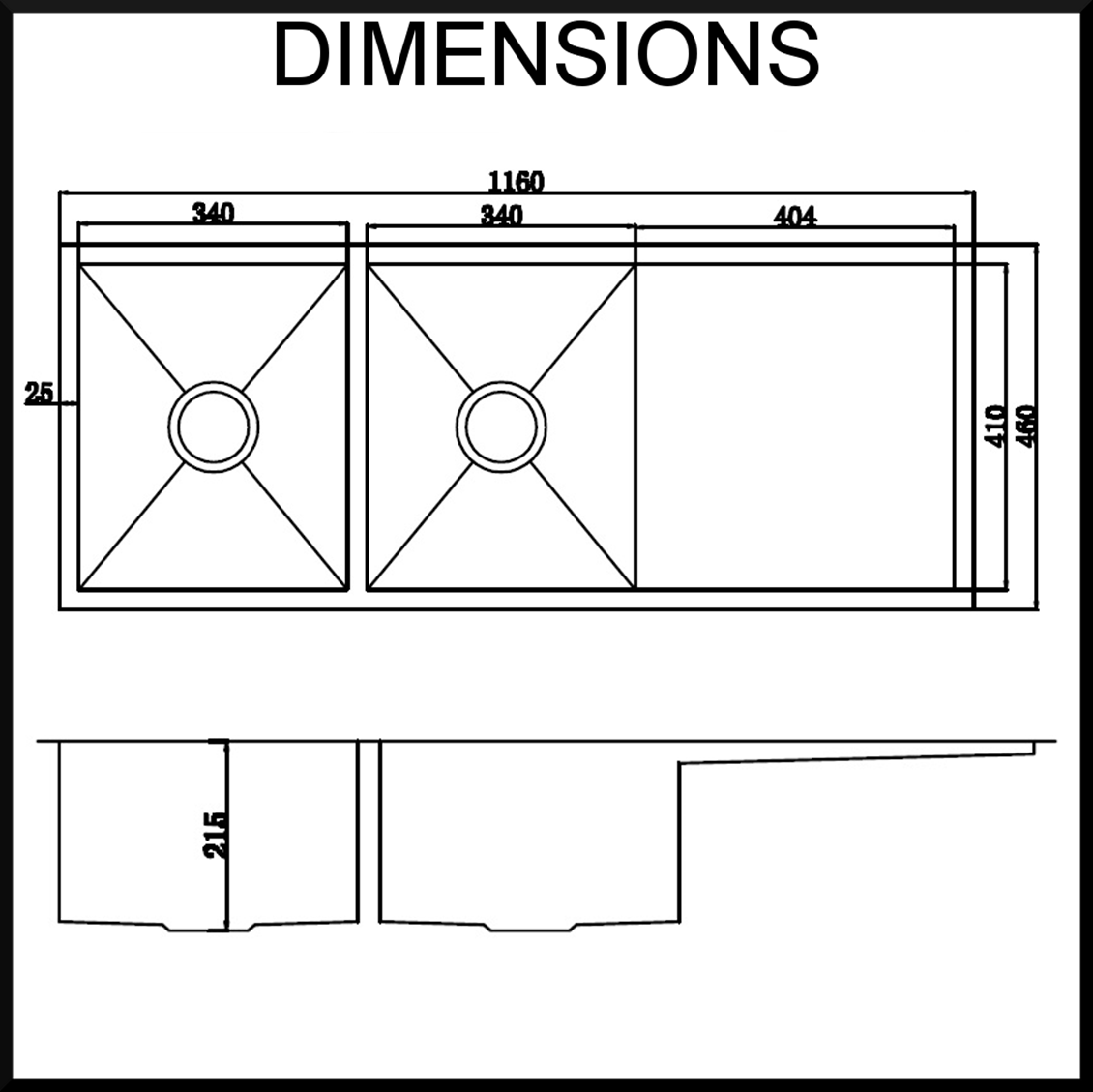 undermount kitchen sink sizes home depot packages dimensions