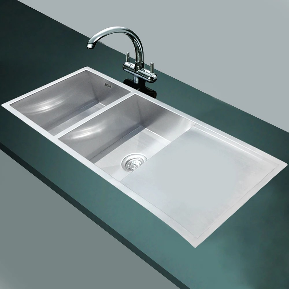Stainless Steel Kitchen Sink Double Bowl With Drainer
