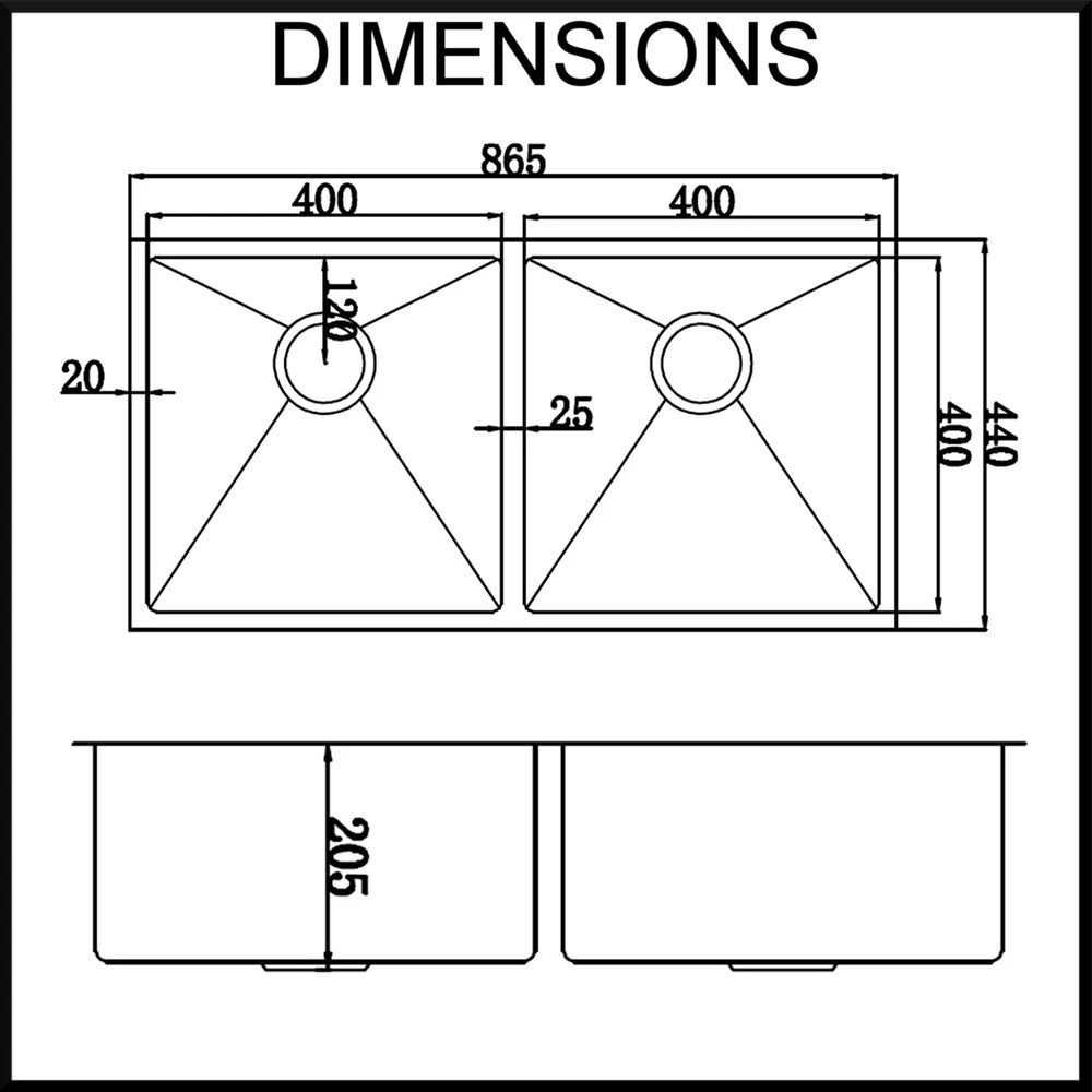 Double Bowl Kitchen Sink Sizes Width Of Kitchen Sink | Ideasidea