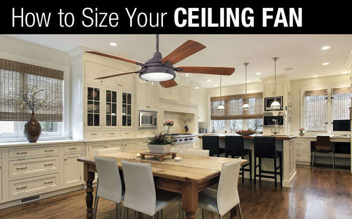 How to Size a Ceiling Fan  Rensen House of Lights