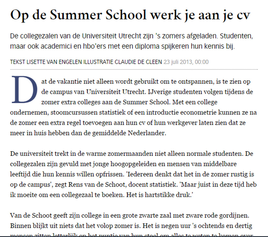 2013-07-23-Volkskrant---Summerschool