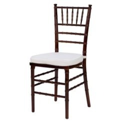 Rent A Chair Good Design Chairs Chiavari Mahogany Color With White Paddings Party