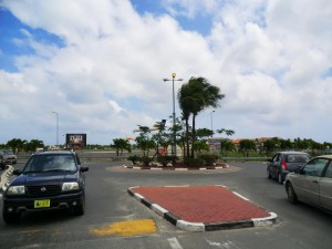 Roundabout in the Maho Region on the Dutch Side