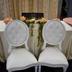 White Tufted Chairs Used Chair Covers On Ebay King Louis Set Of 2 Rental And Partiesrental