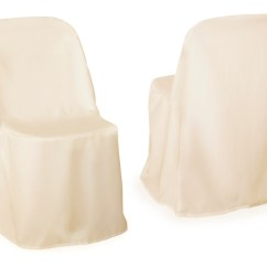 Folding Chair Covers For Wedding Big Lots And Ottoman Cover Ivory