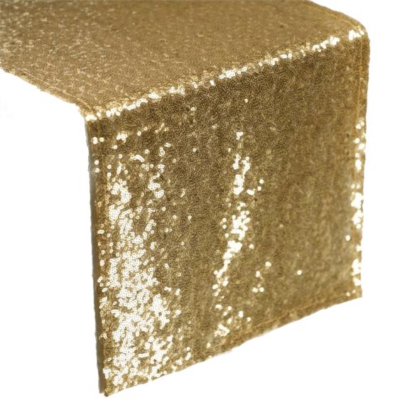 Gold Sequin Table Runner Rentals - Atlanta Party Rentals & Linen