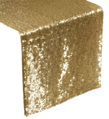 Gold Sequin Table Runner Rentals - Atlanta Party Rentals & Linen
