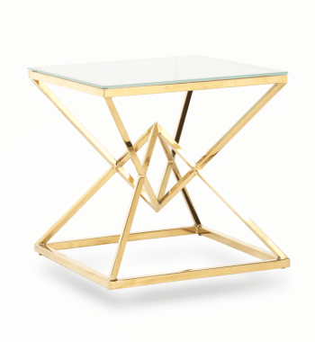 Golden Diamond End Table Renal Atlanta Party Rental