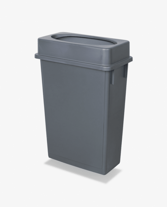Gray Slim Trash Bin Rentals Luxe