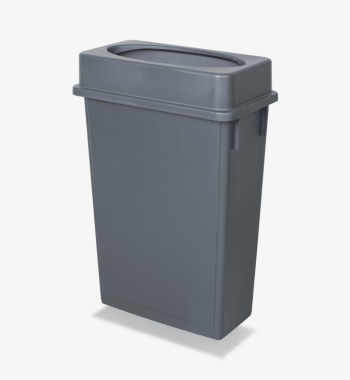 Gray Slim Trash Bin Rentals Luxe