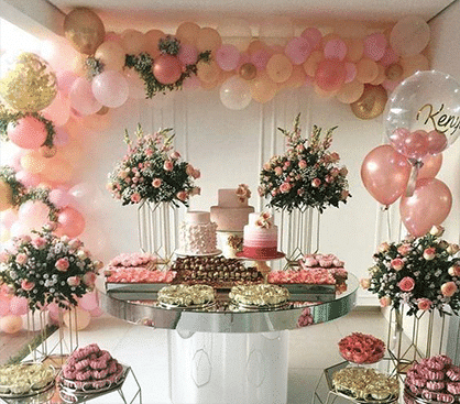Rental dining and cake table rentals in Atlanta, Georgia. Decor and Party Rentals
