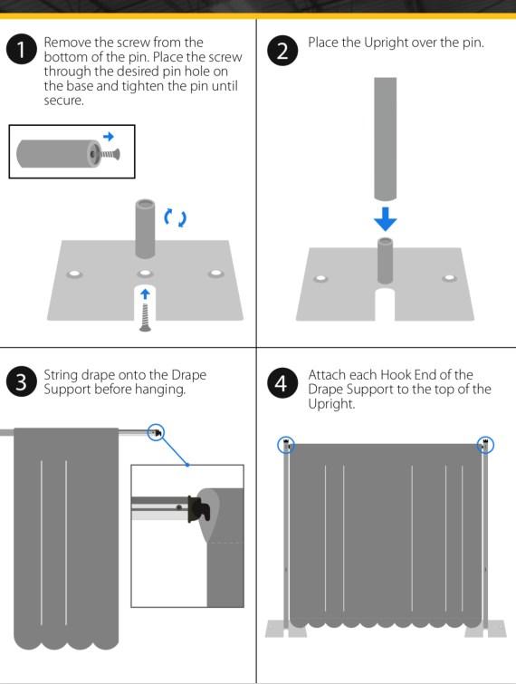 Pipe and Drape Setup Instruction
