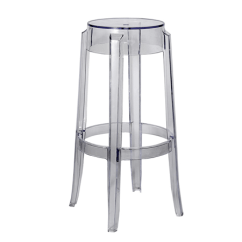 Ghost Bar Chair Leather Reclining Stool Clear Rentastic Party Event Rental