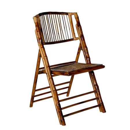 bamboo folding chair elegant christmas covers rentastic party event rental