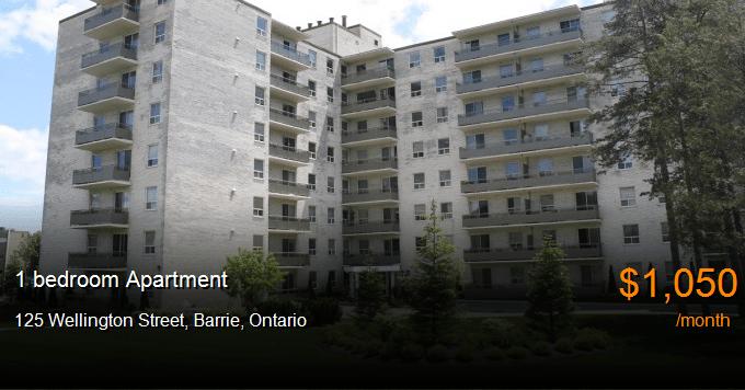 125 Wellington Street Barrie Apartment For Rent B109327