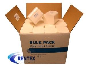 Bulk pack toilet tissues