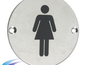 Female Washroom Door Sign