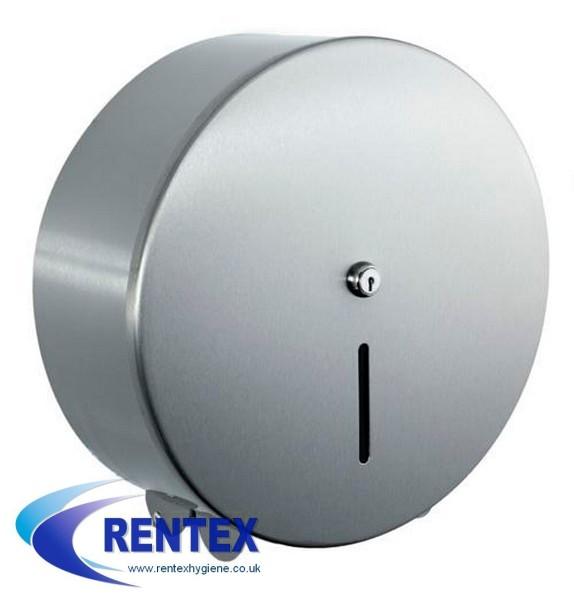 Mini Jumbo Toilet Roll Dispenser Steel