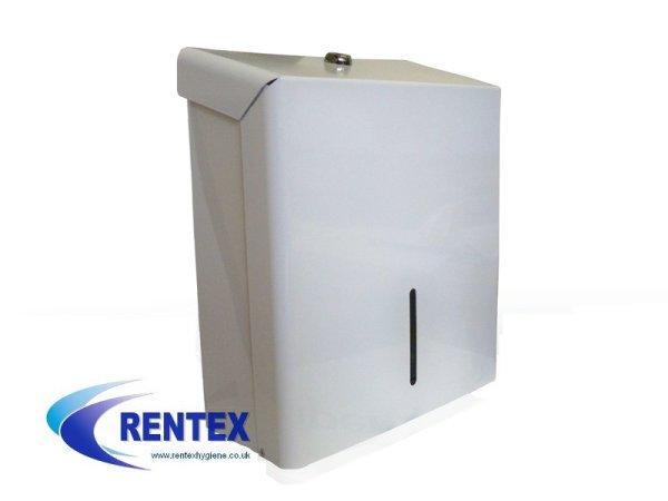 Paper-hand-towel-white-metal-dispenser-Copy