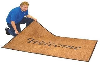 Logo Mat Welcome